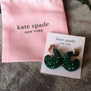 NWT Kate Spade adore-ables Pave' Huggies Earrings